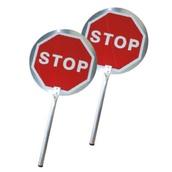 Balizamiento manual, paletas, bastón luminoso y banderas de señalización 3211 Paleta señalización Stop-Stop Aluminio