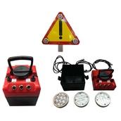 Balizas luminosas intermitentes y baterías 91907 Triflash de Ø100mm Luz LED para señales metálicas