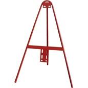 Trípodes y soportes para señales provisionales 412 Trípode tubular lacado rojo para señales MOPU 60 y Económica 50cm