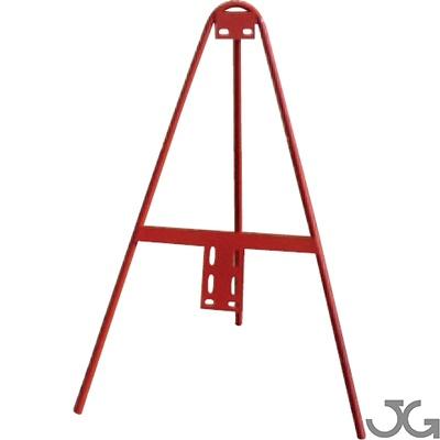 Trípode lacado en rojo de 65x85cm con estructura tubular de Ø16mm. Trípode señales de tráfico. Peso: 1,80 Kgr.