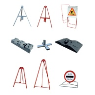 Trípodes para señales de tráfico, bases multiperfil y elementos móviles