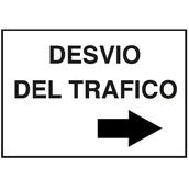 Carteleria variada  Cartel señalizador para desvío de tráfico, medidas 40x30