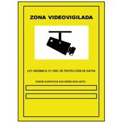 Carteleria variada  Cartel Zona videovigilada de 21x29cm