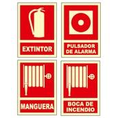 Señales de lucha contra incendios  Señales en castellano
