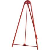 Trípodes y soportes para señales provisionales 435 Trípode Alquilador Gigante tubular lacado rojo para cualquier señal