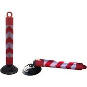 Postes y cadenas de plástico, precaución suelo mojado 8008C Baliza H80 desmontable y abatible