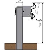 Barrera bionda 10010.49 ml de BMS poste tubular de 1,5m altura cada 4m, con separador, conector, tornillería y captafaro cada 8m