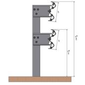 Barrera bionda 10100.68 ml de BMD poste CPN de 2m altura cada 2m, con separador, tornillería y captafaro cada 8m