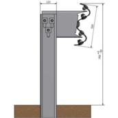 Barrera bionda 10111.01 ml de BMS poste CPN de 1,5m altura cada 4m con separador, tornillería y captafaro cada 8m