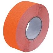Cintas adhesivas antideslizantes  Cinta adhesiva antideslizante fluorescente naranja de 25mm x 18m y 50mm x 18m
