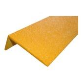 """Perfiles y señalización de escaleras PL-07 Perfil de fibra de vidrio en """"L"""" de 1000x70x30mm amarillo"""