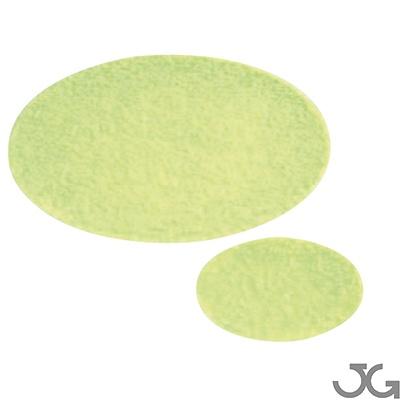 Círculos antideslizantes de vinilo Fotoluminiscente Clase A color amarillo verdoso de PVC flexible.