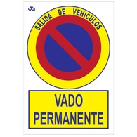 Placas de vado permanente