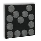 Señales luminosas LED para vehículos  Panel flecha direccional 13 focos leds Ø200mm