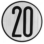 Placas indicadoras y de transporte  V4 de Ø20cm Placa para vehículo con limitación de velocidad