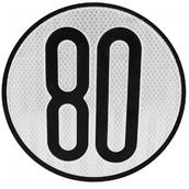 Placas indicadoras y de transporte  V4 de Ø30cm Placa para vehículo con limitación de velocidad