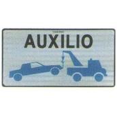 Placas indicadoras y de transporte 591A V24 Placa grúa de servicio de auxilios en carretera