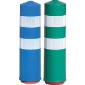 Balizas H75, H80, desmontables y bolardos de poliuretano  Baliza H75 inmune al atropello