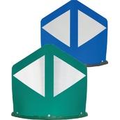 Balizas H75, H80, desmontables y bolardos de poliuretano  Baliza divergente 2 piezas 120cm