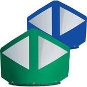 Balizas H75, H80, desmontables y bolardos de poliuretano  Baliza divergente 2 piezas 170cm