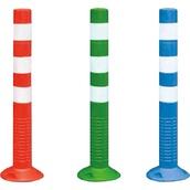 Balizas H75, H80, desmontables y bolardos de poliuretano  Bolardo poliuretano Flexible de 75 cm con 3 bandas Reflex N1
