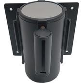 Postes separadores con cinta extensible retráctil 10918Ex Soporte a pared estándar negro con cinta extensible negra de 2m