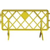 Vallas de plástico 919201 Valla de polipropileno amarilla de 2 x 1 m