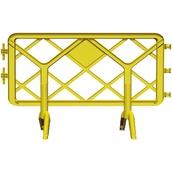 Vallas de plástico 919131 Valla de polipropileno amarilla de 1,3 x 1 m
