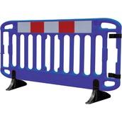 Vallas de plástico 7644 Valla FRONTIER azul con pies giratorios anti-tropiezo