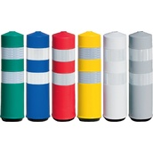 Balizas H75, H80, desmontables y bolardos de poliuretano  Baliza H75 Flexible con dos bandas reflectantes