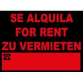Cartelería comercial 963-3IDI Cartel Comercial -SE ALQUILA, FOR RENT, ZU VERMIETEN