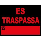 Cartelería comercial 976-CAT Cartel comercial: ES TRASPASSA