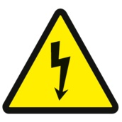 Adhesivos en diversos tamaños  Adhesivos en PVC troquelados Señales de advertencia. 105mm. (lado triángulo)