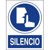 Carteleria variada 611 Cartel indicación de silencio