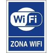 Carteleria variada 610 Cartel Zona wifi