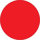 Círculos adhesivos para cristales 612 Círculo adhesivo rojo para cristales