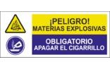 Peligro materias explosivas Obligatorio apagar el cigarrillo SC02