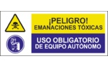 Peligro emanaciones tóxicas Uso obligatorio de equipo autónomo SC03