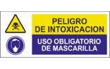Peligro de intoxicación Uso obligatorio de mascarilla SC04