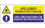 Peligro productos tóxicos Uso obligatorio de equipo de protección SC06