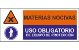 Materias nocivas Uso obligatorio de equipo de protección SC09