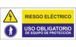 Riesgo eléctrico Uso obligatorio de equipo de protección SC12
