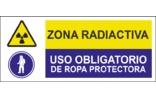 Zona radioactiva Uso obligatoria de ropa protectora SC15