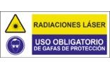 Radiaciones laser Uso obligatorio de gafas de protección SC16