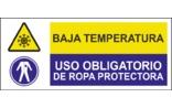 Baja temperatura Uso obligatorio de equipos de protección SC18