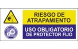 Riesgo de atrapamiento Uso obligatorio de protector fijo SC20