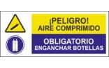 Peligro aire comprimido Obligatorio enganchar botellas SC21