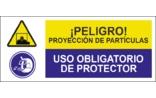 Peligro Proyección de partículas Uso obligatorio de protector SC22