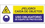 Peligro caída de objetos Uso obligatorio de equipo de protección SC25
