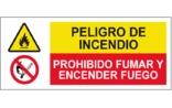 Peligro de incendio Prohibido fumar o encender fuego SC31